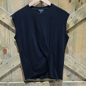 RAG & BONE CLASSIC BLACK NO SLEEVE TEE XS